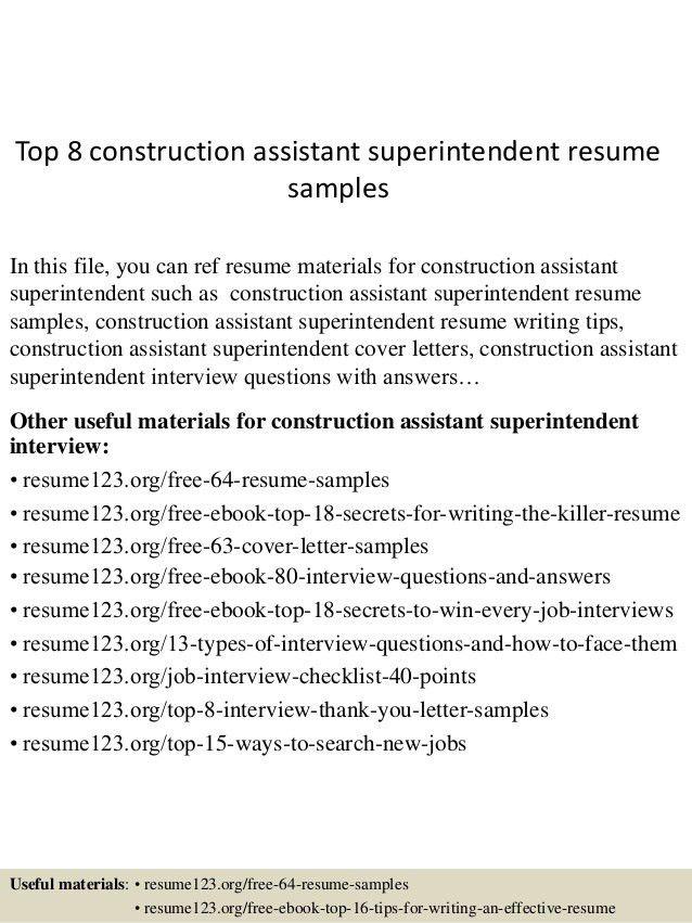 top-8-construction-assistant-superintendent -resume-samples-1-638.jpg?cb=1432819662