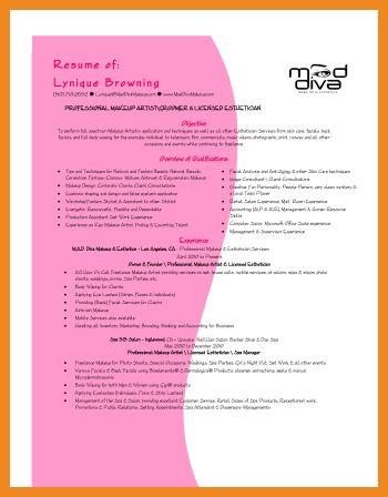 esthetician resume | art resume examples