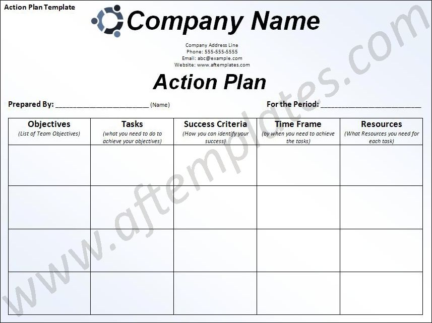 Free Business Action Plan Template | Action Plan Template | ALL ...