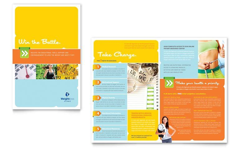 Weight Loss Clinic Brochure Template - Word & Publisher