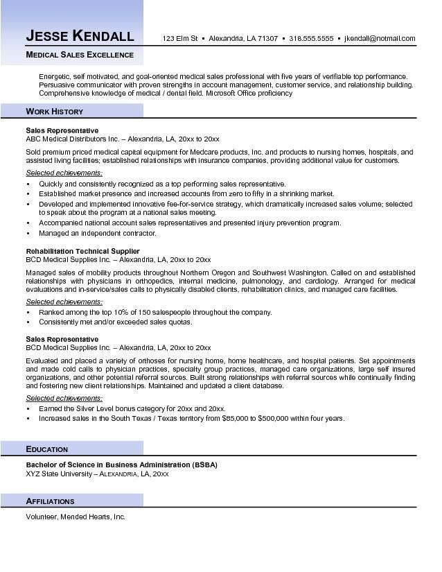 Medical Sales Resume | berathen.Com