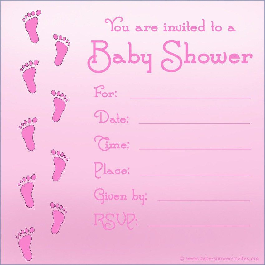 Baby Shower Invitations For Girls Templates Nickhaskins Com Is One ...