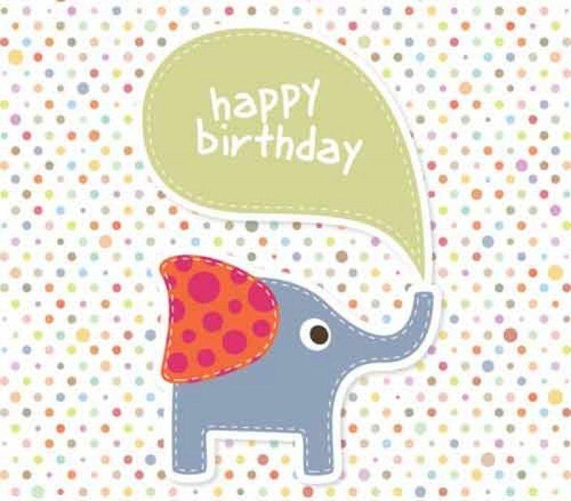 Birthday Card Template. Cartoon Birthday Cards Vector 17+ Birthday ...