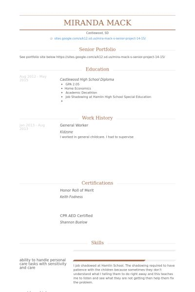 General Worker Resume samples - VisualCV resume samples database