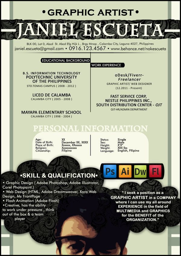 31 best Creative Resume images on Pinterest | Creative resume ...