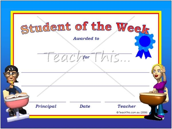 Student Awards - Printable Classroom Student Awards and ...