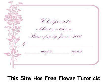 rsvp template free