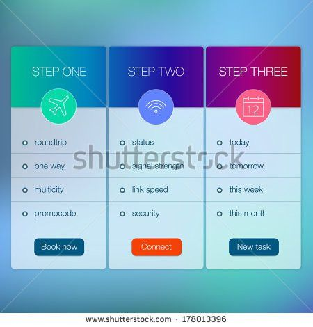Modern Website Ui Template Design Transparent Stock Vector ...
