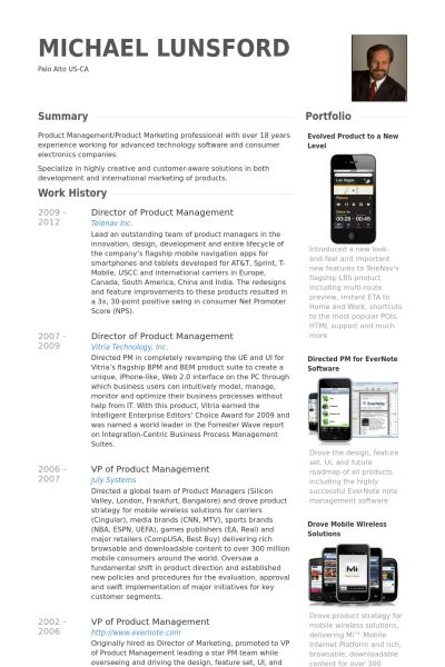 Director Of Product Management Resume samples - VisualCV resume ...