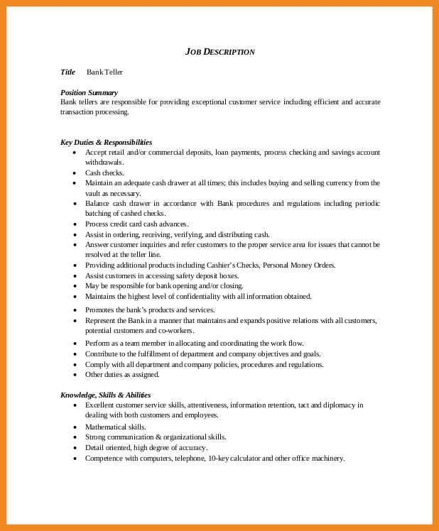 bank teller resume | art resume examples