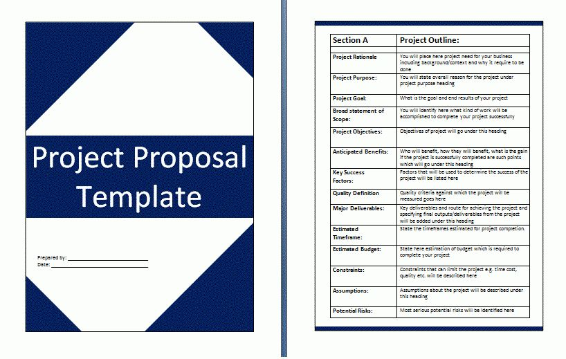 10+ project proposal template microsoft word | ledger paper