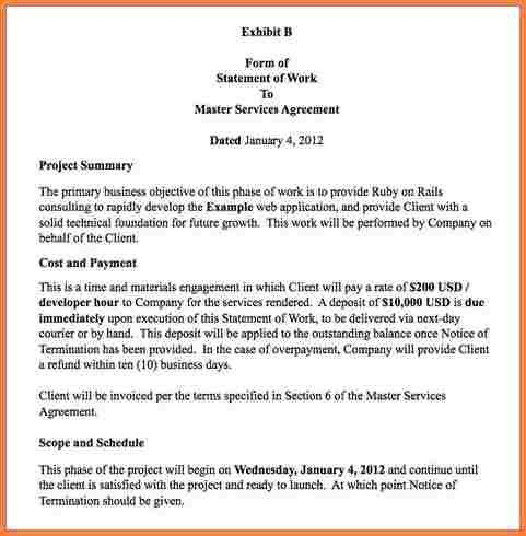 7+ statement of work template consulting | Statement Synonym