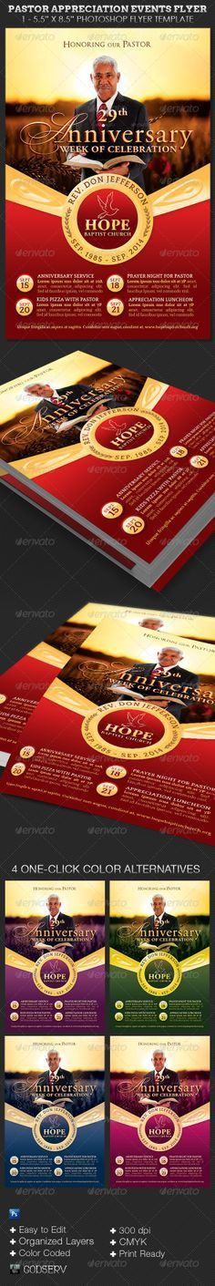 Amazingly Beautiful Pastor Appreciation Flyer Templates ...