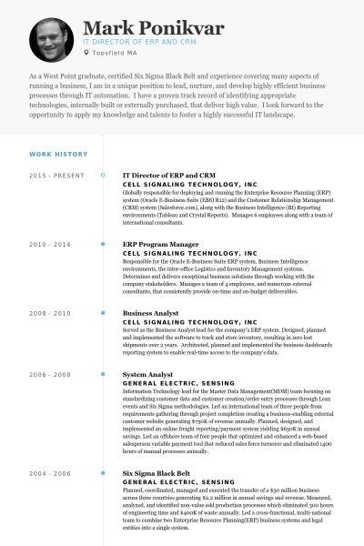 It Director Resume samples - VisualCV resume samples database