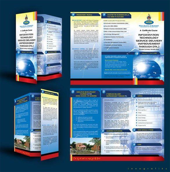 10+ Useful Course Brochure Templates | Free & Premium Templates