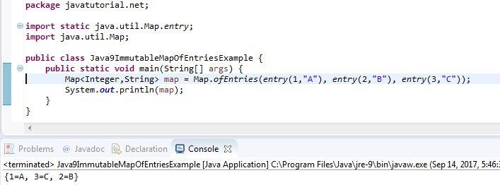 Java 9 Immutable Map Example | Java Tutorial Network