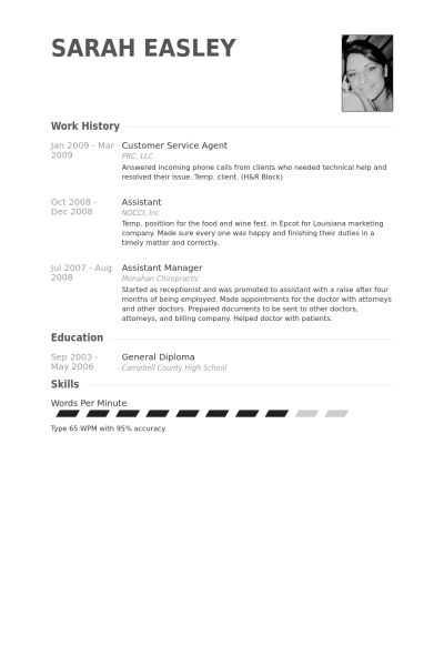 Customer Service Agent Resume samples - VisualCV resume samples ...