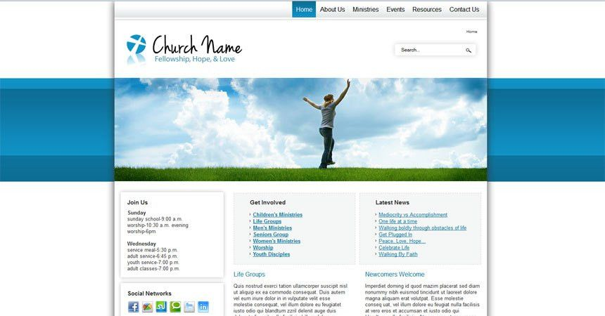 Free Joomla 2.5 template social activities and church - Free ...