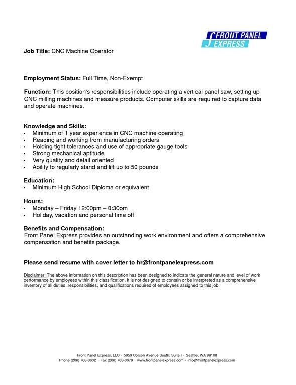 lead machine operator resume samples machine operator resume ...
