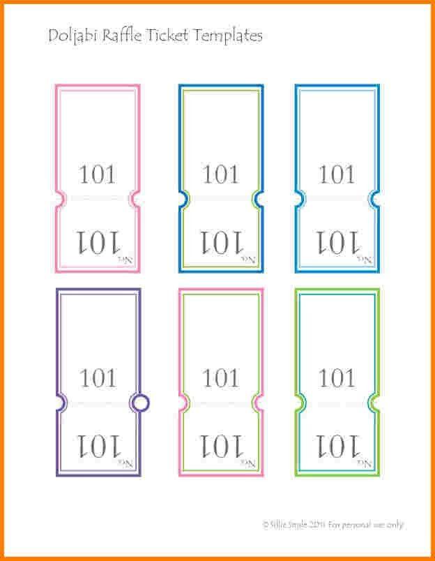 7 raffle ticket template | Receipt Templates