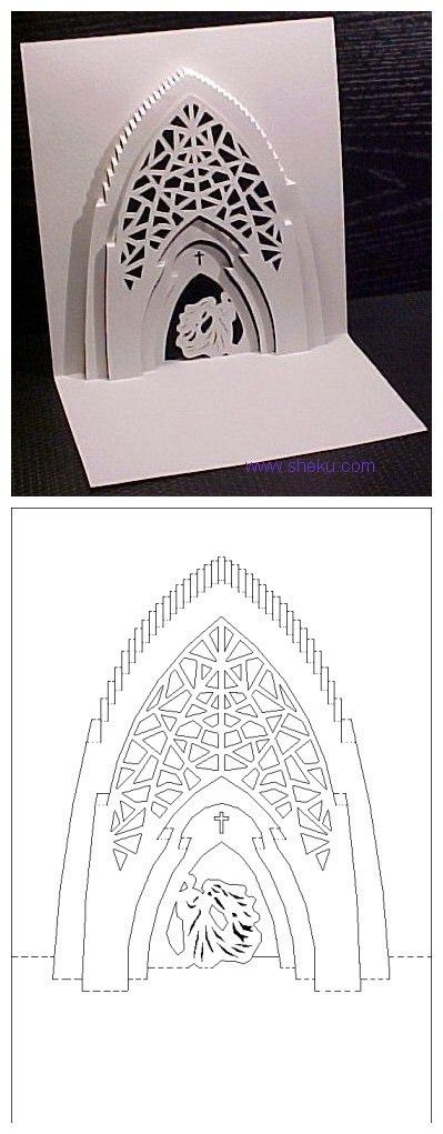 pop up church card template | Craft Ideas | Pinterest | Card ...