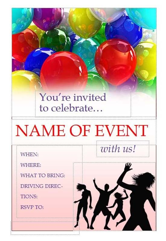 Free Invitation Flyers - Free Online Flyers