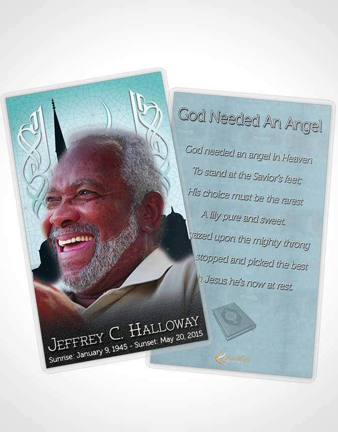 Bifold Order of Service Obituary Template Brochure Summer Breeze ...