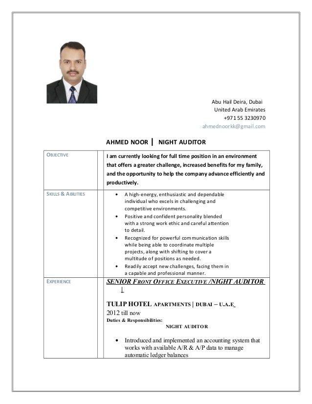Ahmed Noor Night Auditor