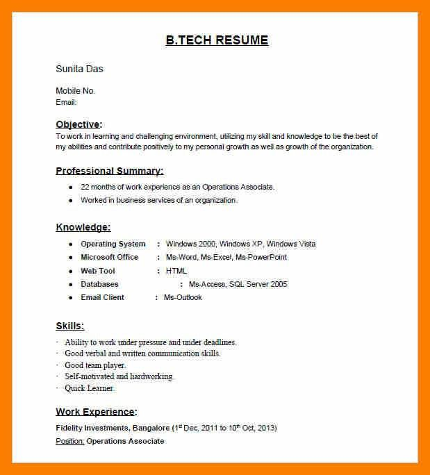 Headline resume examples