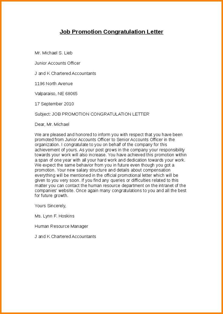 8+ promotion letter | memo templates
