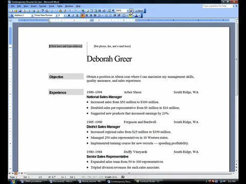 How To Make A Resume In Word | haadyaooverbayresort.com