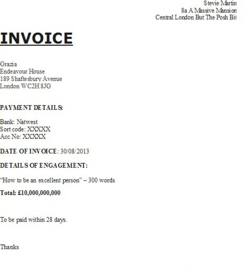Translation Invoice Sample | rabitah.net