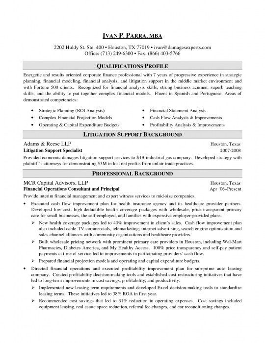 Investment Banking Resume Template. Banker Resume Format Executive ...