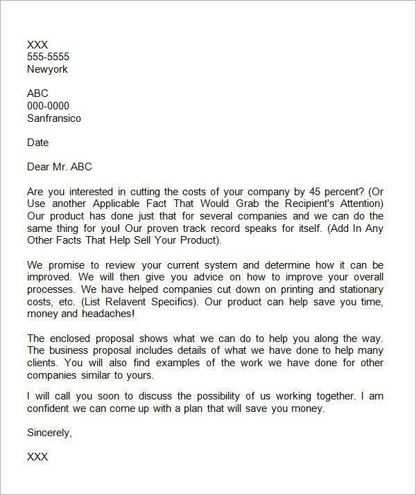 Business Offer Letter   The Letter Sample