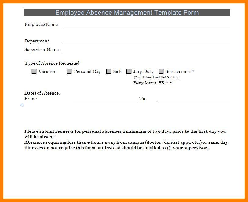 7+ leave of absence form sample | target cashier