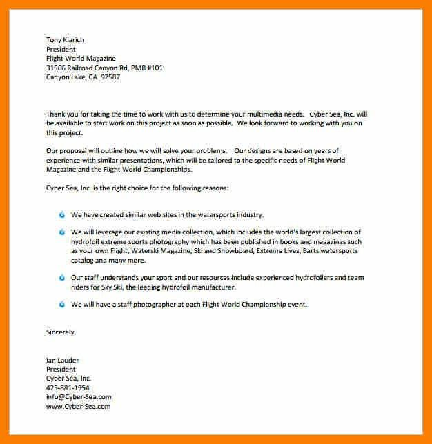 Proposal Letters. Sample Blank Business Proposal Letter 12+ ...