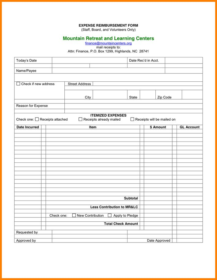 9+ expense reimbursement form | resume reference