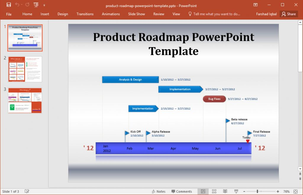 project roadmap template powerpoint free roadmap template with ...