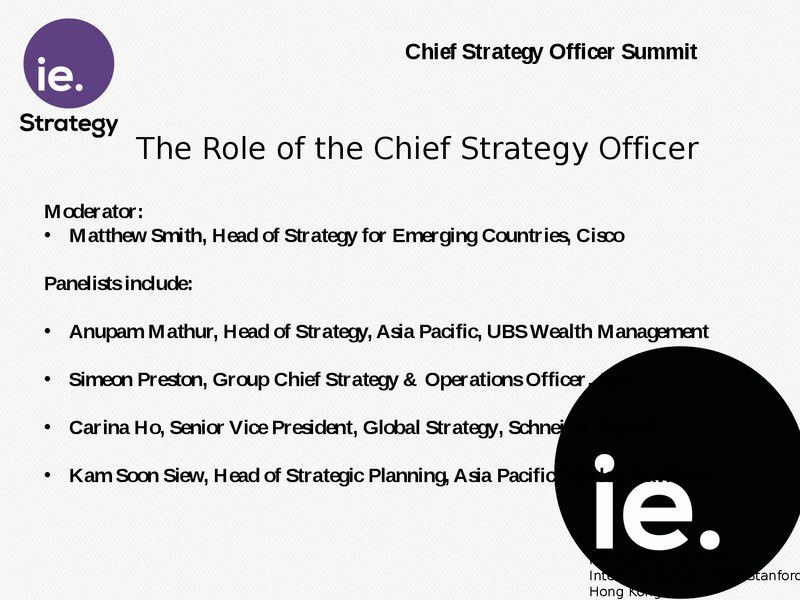 On Demand | Presentations | Panel: The Role of the Chief Strategy ...