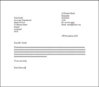 Letter Writing – How to Set Out a Formal Letter   Yellow How To