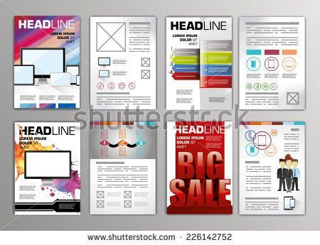 Vector Set Flyers Templates Brochures A4 Stock Vector 219661018 ...