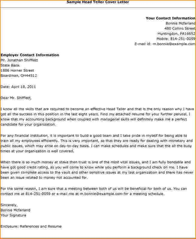 bankteller cover letter. 4 tips to write cover letter for bank ...