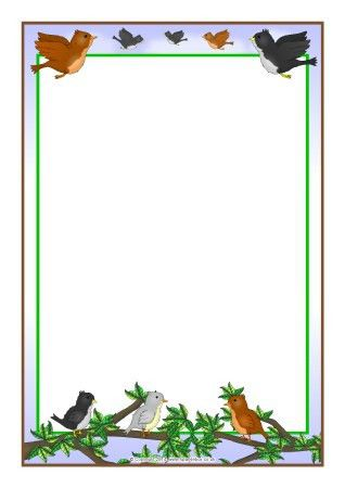 Birds A4 page borders (SB10168) - SparkleBox