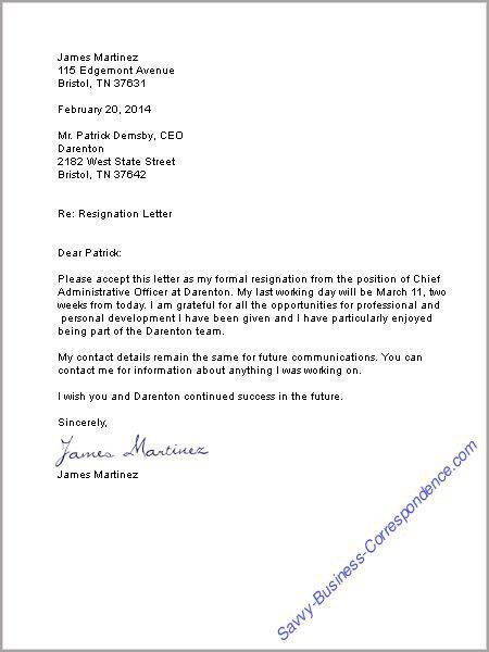 Business Letters: Employment