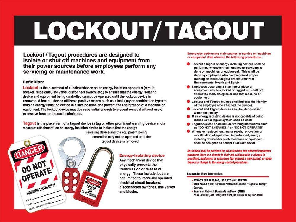 Lockout/Tagout Awareness Poster