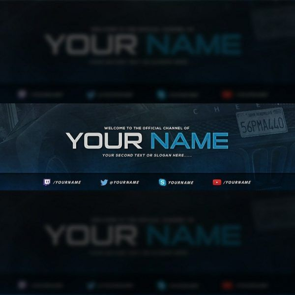 Gaming Youtube Banner Template   Tristan Nelson – Sellfy intended ...