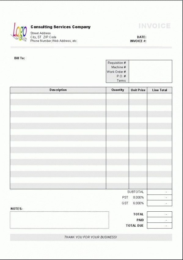 Download Invoice Template Australia Free Download | rabitah.net