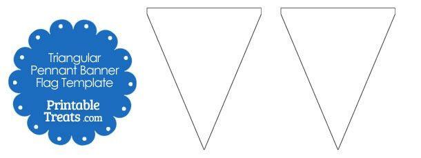 Blank Triangular Pennant Banner Flags — Printable Treats.com