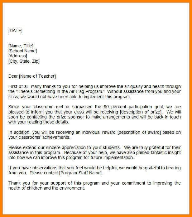 Thank You Letter To Teachers. Letter To Parents-I Did Something ...