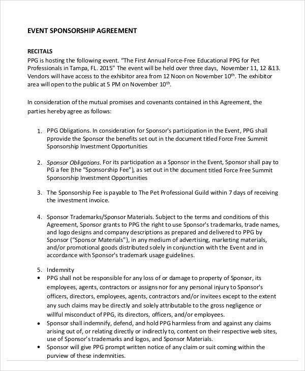Sample Agreement Samples